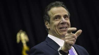 New York Governor Andrew Cuomo speaks during a