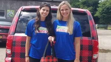 Emily Schmidt, left, and Cassie Sutton,