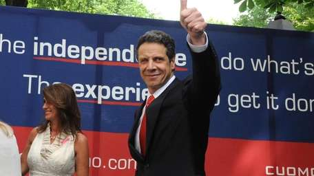 New York State Attorney General Andrew Cuomo exits