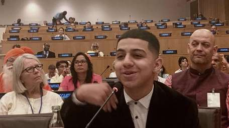 Osman Gomez, 16, shared how yoga has benefited