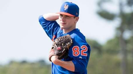 Mets pitcher Drew Smith during a spring training
