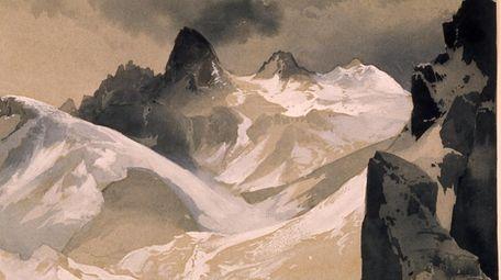 """The Tetons,"" an 1879 painting by Thomas Moran."