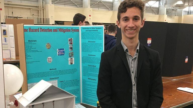 Ethan Basaleli, a freshman at North Shore Hebrew