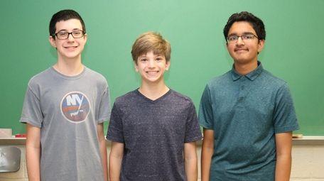 Commack High School freshmen, from left, Jordan Walsh,