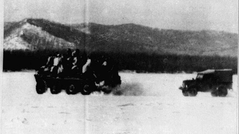 This file photo shows Soviet soldiers at the