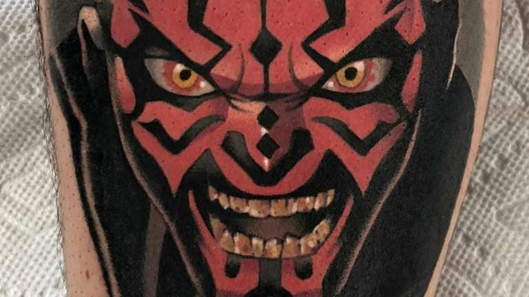 Darth Maul tattoo by Adam Perjatel of Green