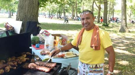 Roger Siguencia of Bay Shore cooks for his
