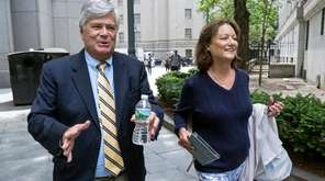 Dean Skelos and his wife, Gail, leave federal