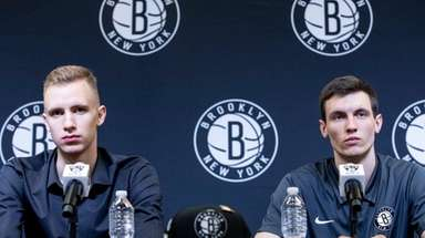 The Nets introduce Dzanan Musa and Rodions Kurucs