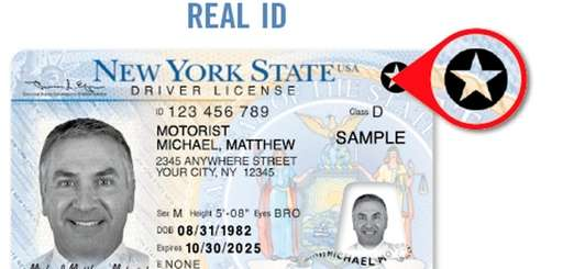 A sample of a Real ID-compliant New York