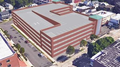 RENDERING: A new parking structure will be constructed