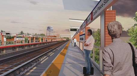 RENDERING: The Carle Place station was built in