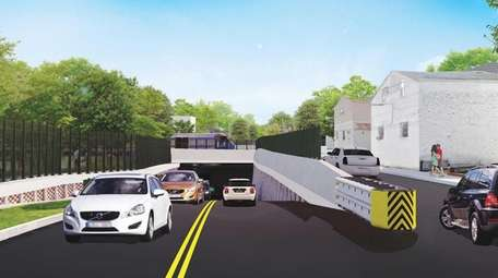 RENDERING: The Covert Avenue grade crossing in the
