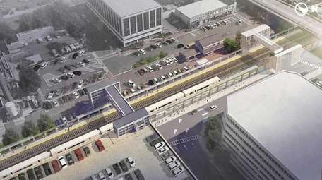 RENDERING: Mineola station sits adjacent to the Mineola