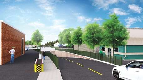 RENDERING: The Urban Avenue grade crossing in the