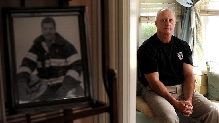 Lt. Jim McCaffrey in his home in Yonkers,