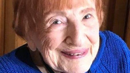 Francine Kritchek, 94, a longtime resident of Hicksville,