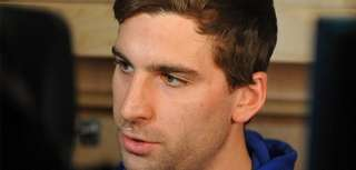 John Tavares speaks with the media after New