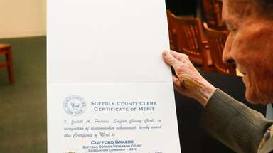 Clifford Graebe, 69, of Centereach, at a Suffolk