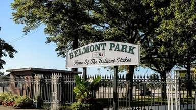 A backstretch worker at Belmont Park likely died