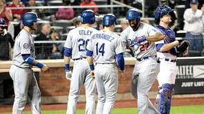 Los Angeles Dodgers left fielder Matt Kemp is