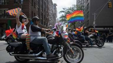 The 2018 NYC Pride March -- themed