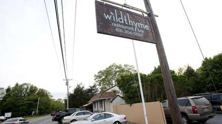 Wildthyme restaurant is on Noyac Road in Southampton.