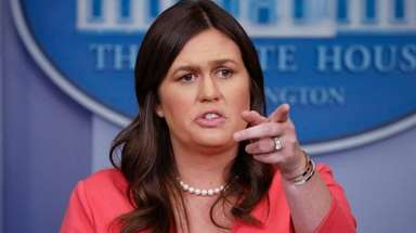 White House press secretary Sarah Huckabee Sanders on