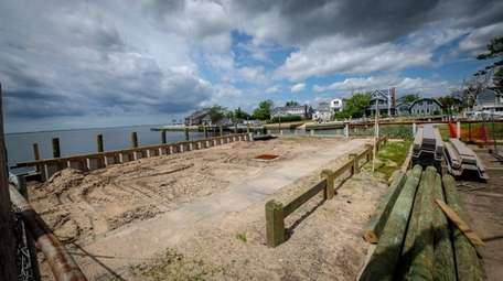 Part of the bulkheading project in Amityville at