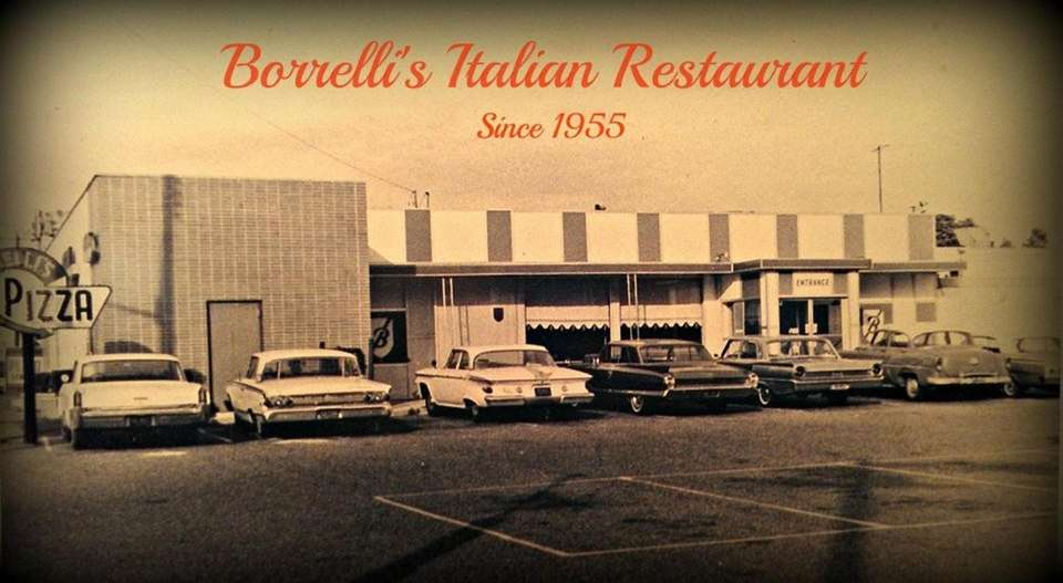 A vintage postcard for Borrelli's in East Meadow