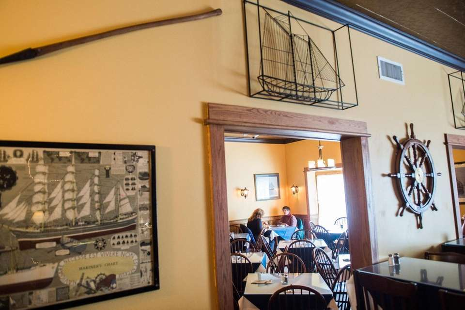 The dining room of Cliff's Elbow Room, at