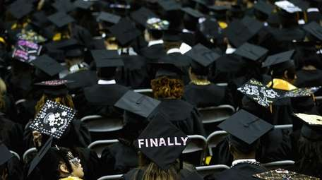 Graduates of Bowie State University during the school's