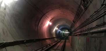 A view of a tunnel for the LIRR