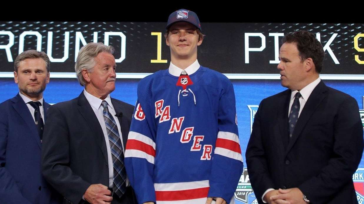 Rangers first-round pick Vitali Kravtsov anxious to come to North America  this fall. Vitali Kravtsov poses after being selected ninth overall 6c747e16f