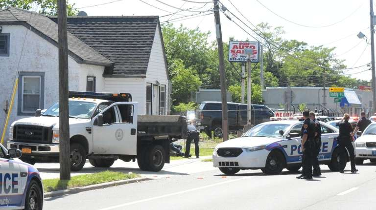 Suffolk County police ended a pursuit in West