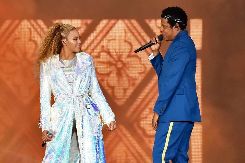"Beyoncé and Jay-Z, who released ""Everything Is Love"""