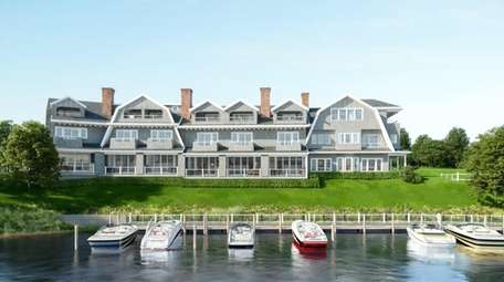 Architect's rendering of the Hampton Boathouses, a 37-unit