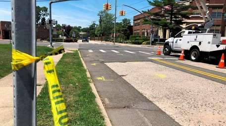 Police said a man fell from a truck