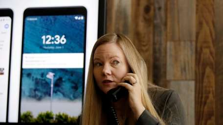 Valerie Nygaard, product manager for Google, presents a