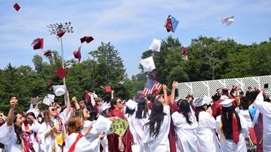 Glen Cove High School's Class of 2018 tossed