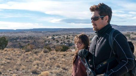 Benicio Del Toro and Isabela Moner in Sony
