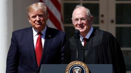 President Donald Trump, left, and Supreme Court Justice