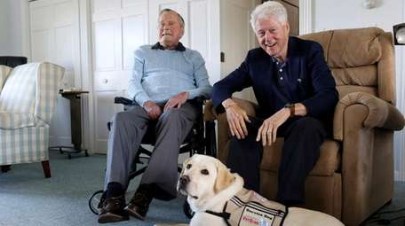 Former President George H.W. Bush and Sully, his