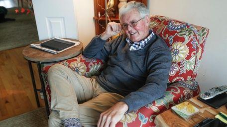 Retired Suffolk prosecutor Michael Ahearn, shown at home