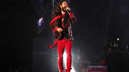 Jared Leto performs with his band, Thirty Seconds