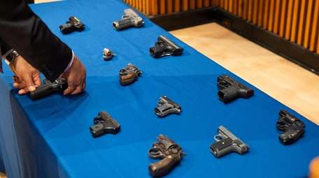 Guns recovered after part of Operation Melrose Jackson.
