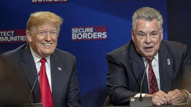 President Donald Trump and Rep. Peter King during