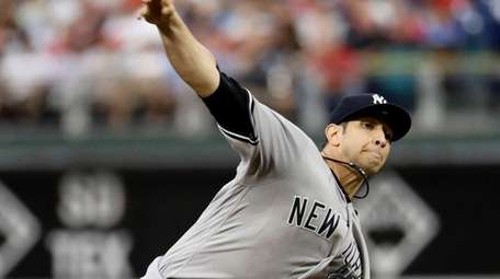 Yankees' Luis Cessa pitches during the first inning