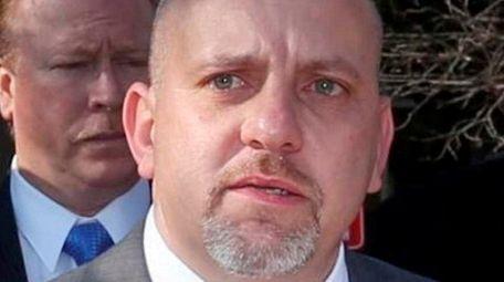 Suffolk County PBA President Noel Digerolamo, shown outside
