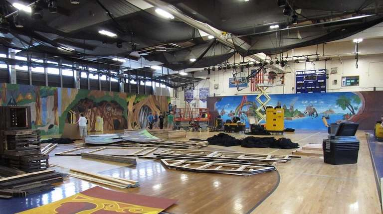 Volunteers transformed Earl L. Vandermeulen High School's gym
